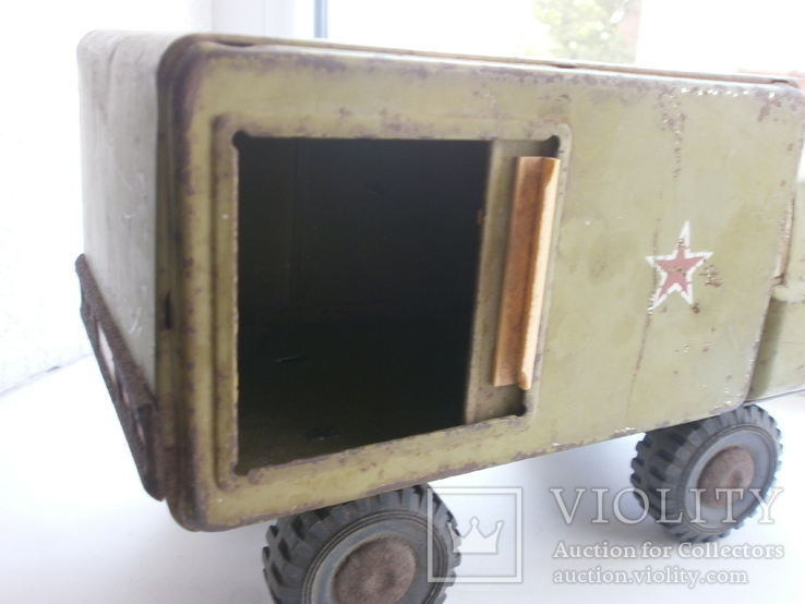 Машина металлическая. СССР. 25х10х14,5см, фото №6