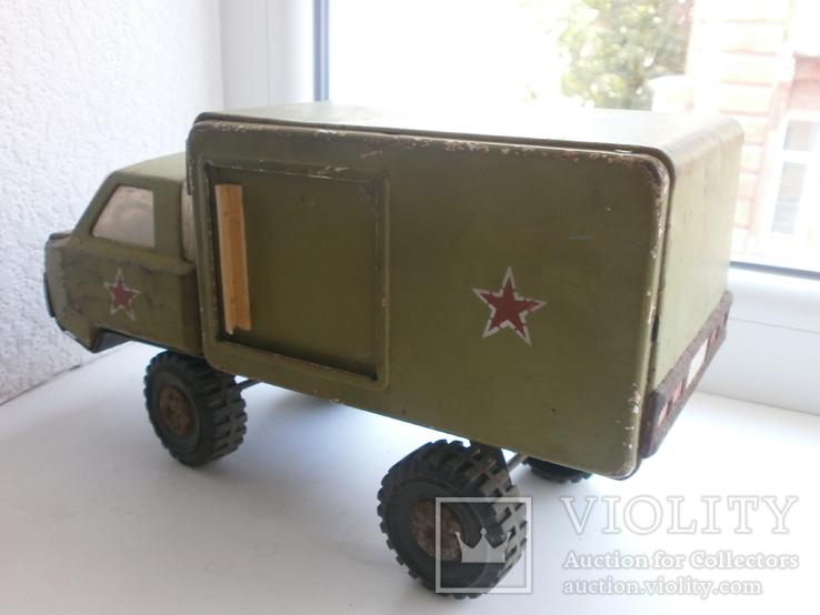 Машина металлическая. СССР. 25х10х14,5см, фото №8