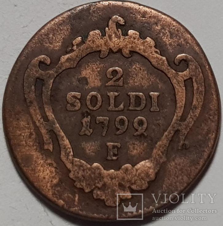 Гориция 2 сольдо 1799 год