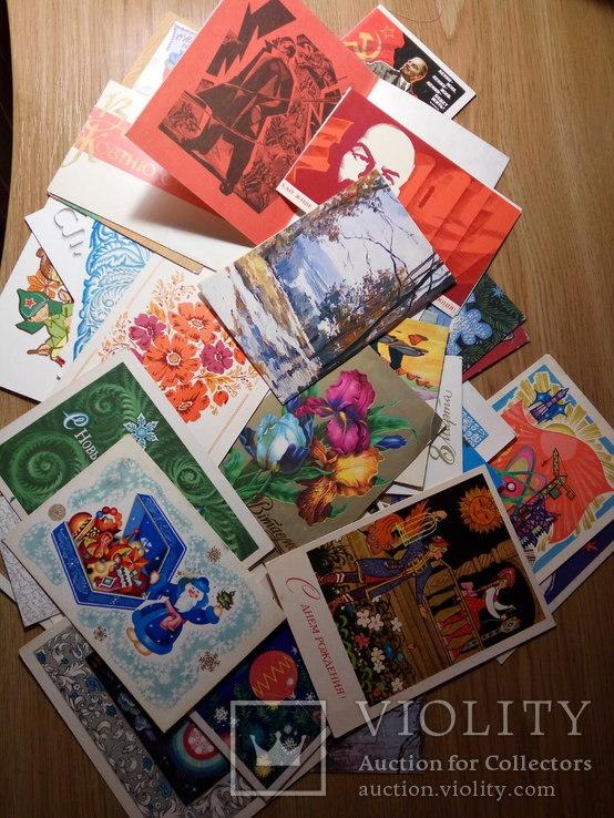 Космос гагарин, открытки 70-е