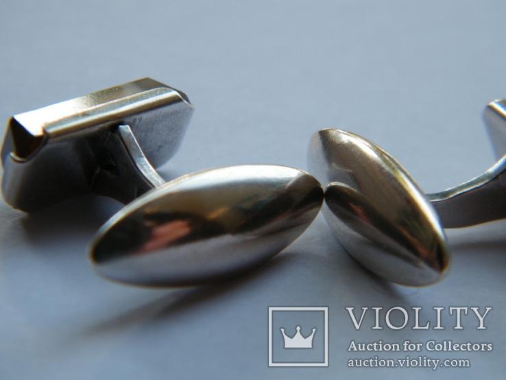 Серебряные запонки 875 пр., фото №5