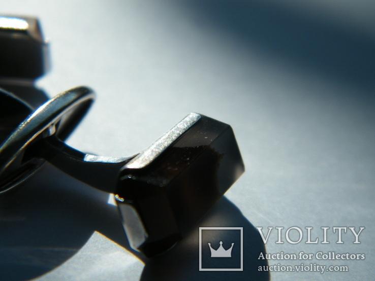 Серебряные запонки 875 пр., фото №6