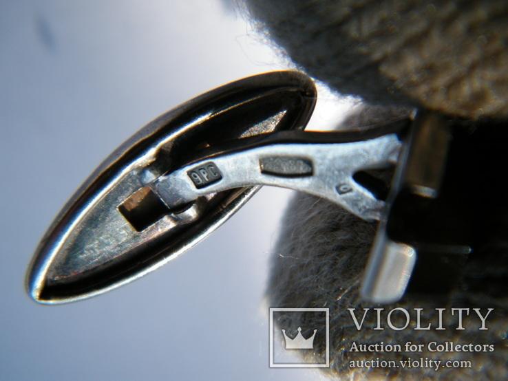 Серебряные запонки 875 пр., фото №10