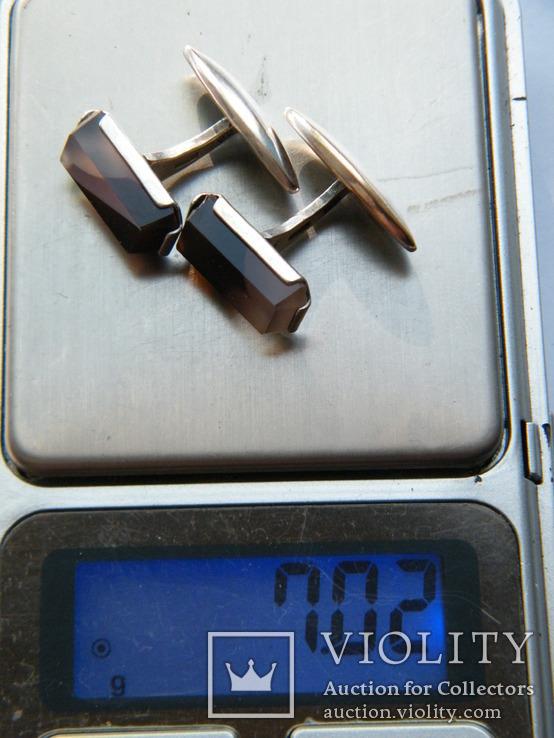 Серебряные запонки 875 пр., фото №12