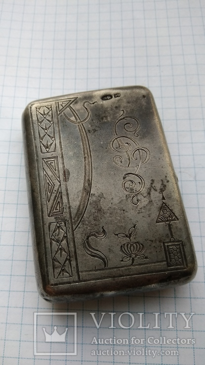 Таблетница табакерка серебро 84пр. именник АК, фото №2
