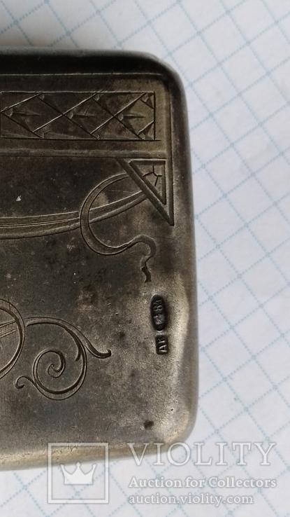 Таблетница табакерка серебро 84пр. именник АК, фото №4