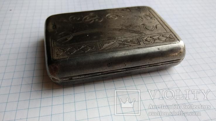 Таблетница табакерка серебро 84пр. именник АК, фото №8