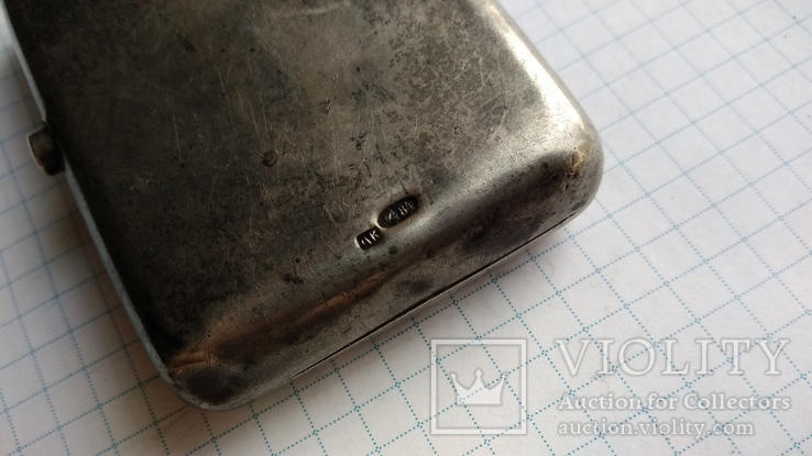 Таблетница табакерка серебро 84пр. именник АК, фото №10