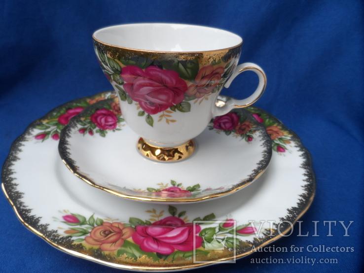 Чайная тройка Фарфор Bavaria  Клеймо, фото №2