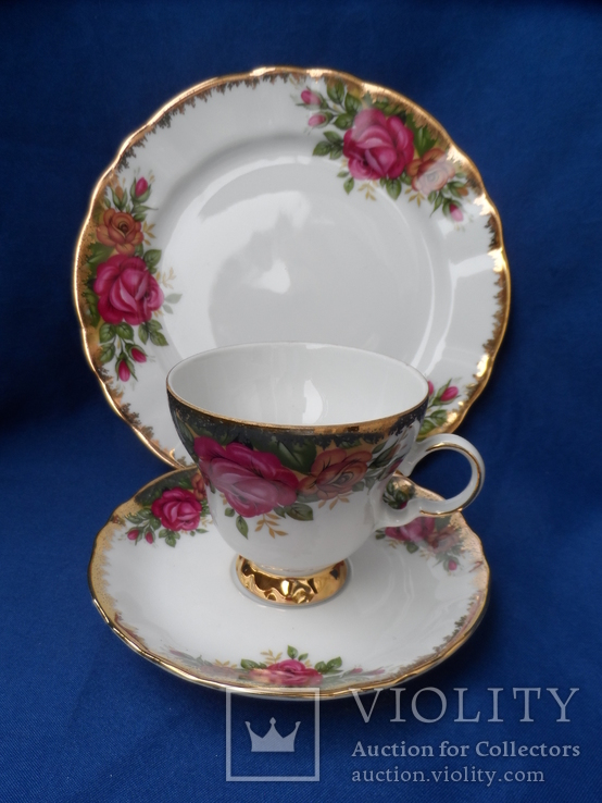 Чайная тройка Фарфор Bavaria  Клеймо, фото №4