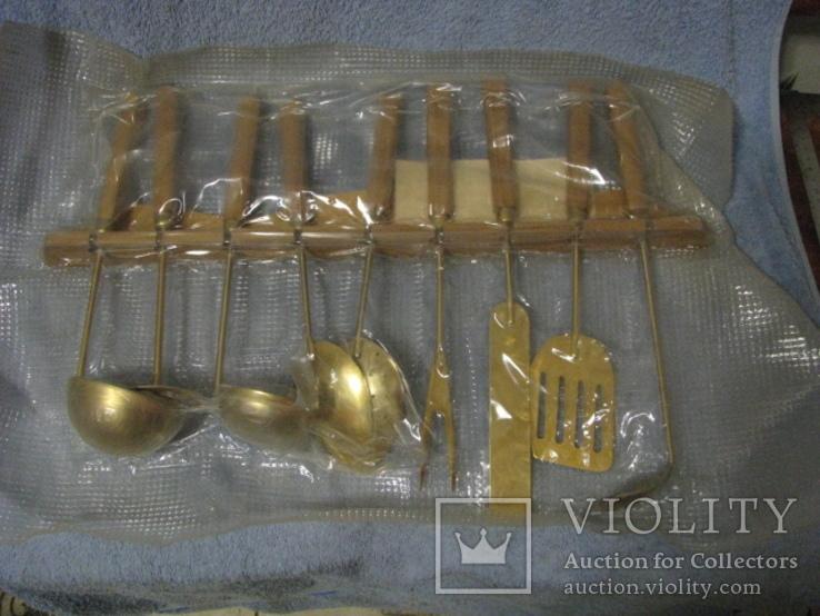 Набор кухонный с декоративным покрытием под золото., фото №2