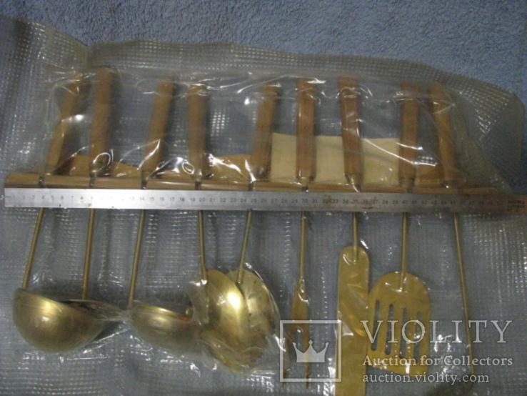 Набор кухонный с декоративным покрытием под золото., фото №3