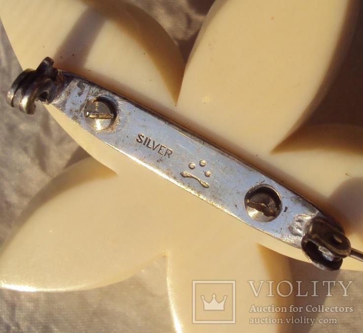 Гарнитур слоновая кость, серебро, 1940-е - 50-е г., фото №9