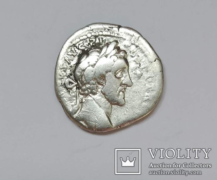 Антонин Пий, денарий, серебро, фото №2