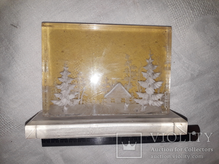 Настольное украшение.сделвано в ссср.зима., фото №4
