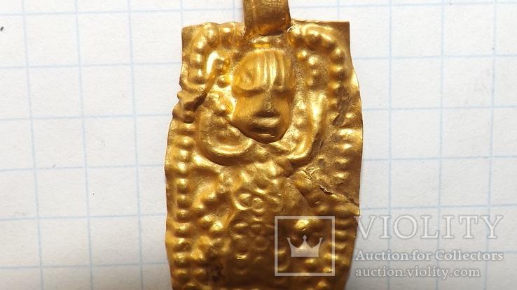 Золотая привеска ЧК с антропоморфным изображением, фото №3