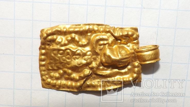 Золотая привеска ЧК с антропоморфным изображением, фото №5