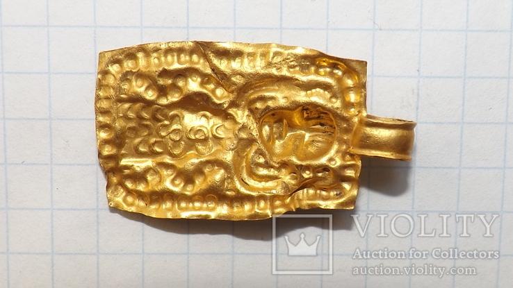 Золотая привеска ЧК с антропоморфным изображением, фото №6