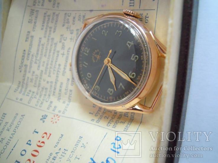 Золотые часы Москва 583, фото №3