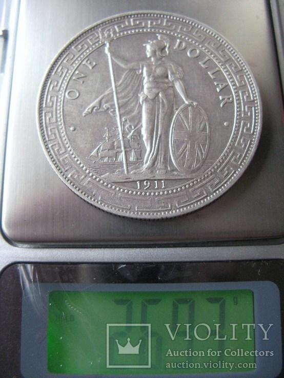 Великобритания Торговый доллар 1911г. Оригинал., фото №4