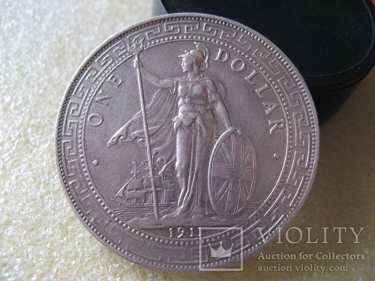 Великобритания Торговый доллар 1911г. Оригинал., фото №5