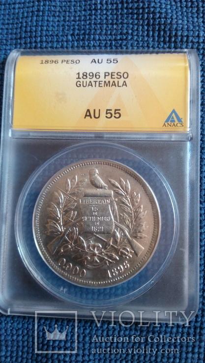 Гватемала ,Песо 1896, фото №2