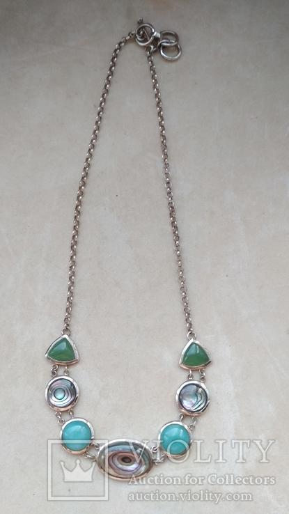 Серебряное украшение, колье, Европа, фото №10