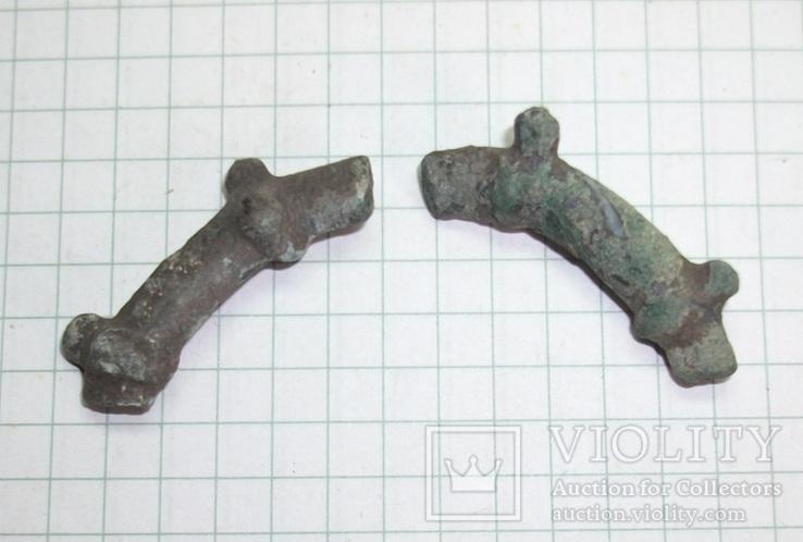 Два фрагмента шипованого браслета периода ЧК., фото №3