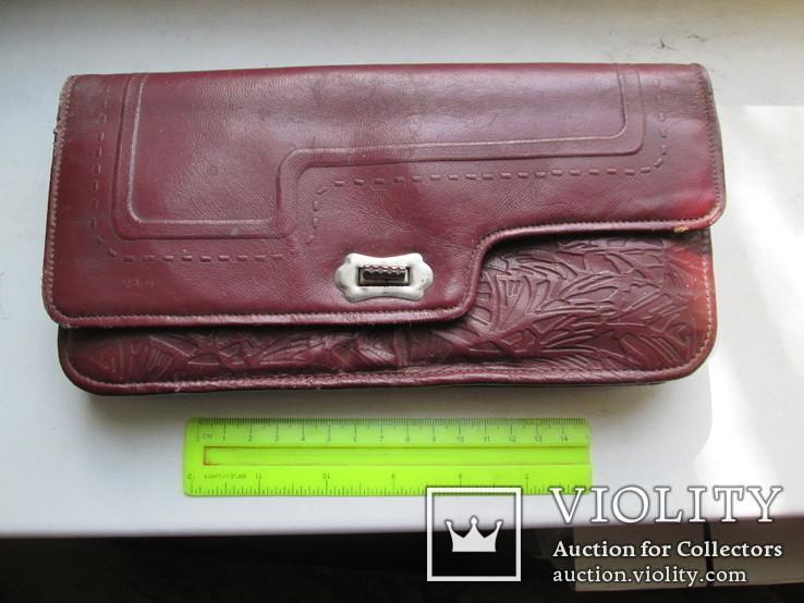 Женская сумочка кожаная 1958г., фото №2