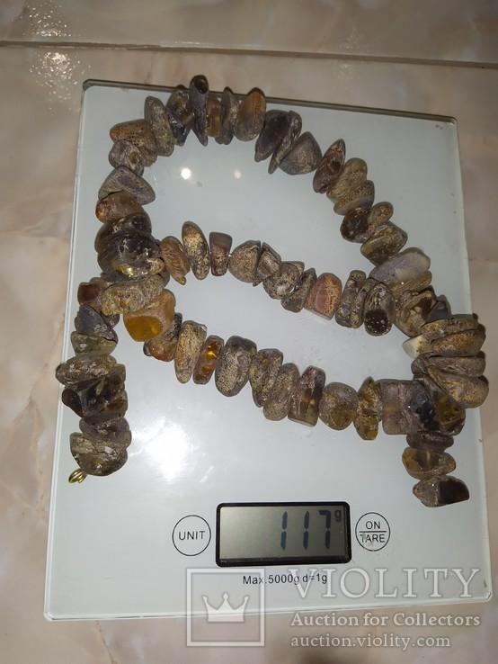 Янтарь бусы 117 грамм