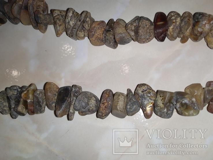 Янтарь бусы 117 грамм, фото №10