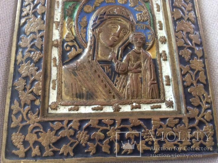 Икона Богородица, 5 цветов эмали, фото №5