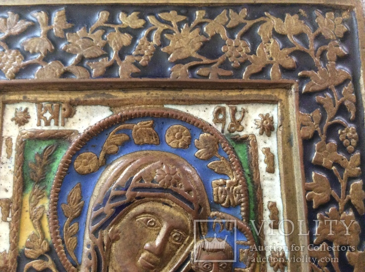 Икона Богородица, 5 цветов эмали, фото №7