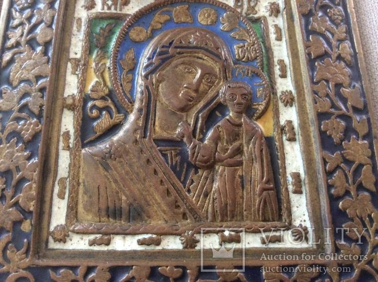 Икона Богородица, 5 цветов эмали, фото №8