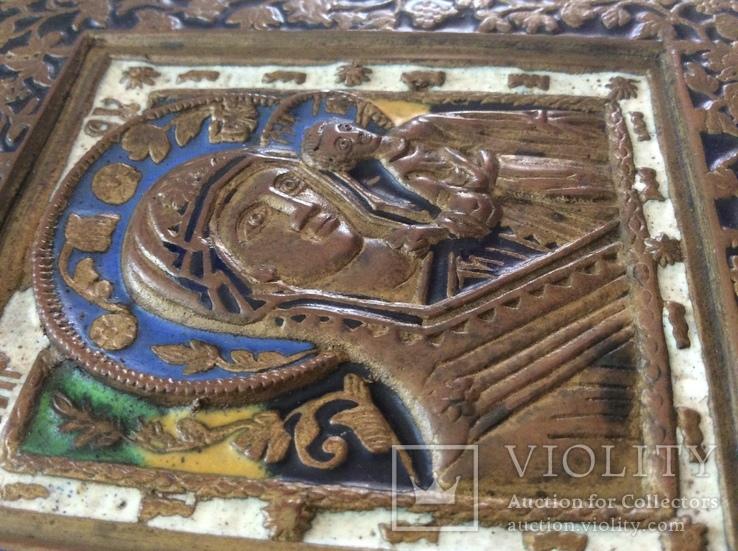 Икона Богородица, 5 цветов эмали, фото №9