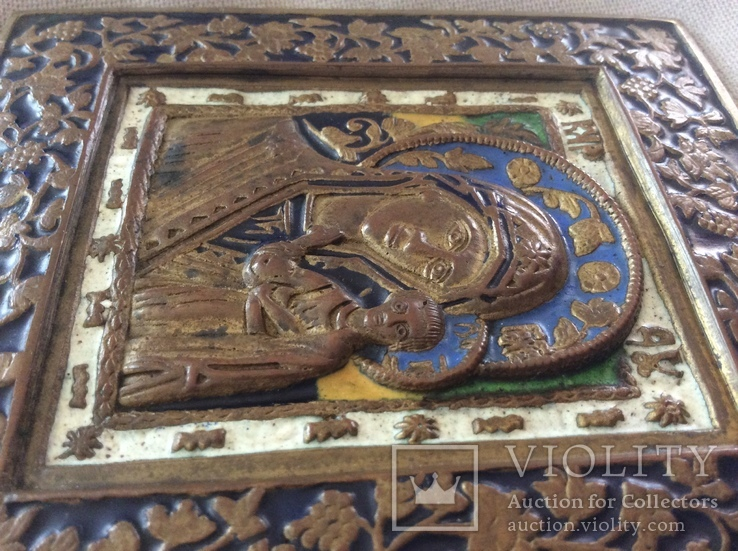Икона Богородица, 5 цветов эмали, фото №10