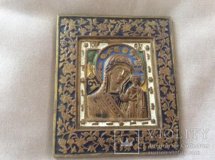 Икона Богородица, 5 цветов эмали