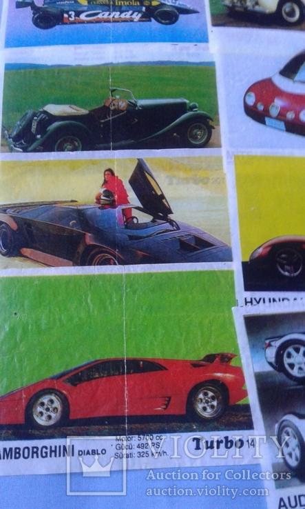 Вкладыши Turbo 39 штук, фото №11