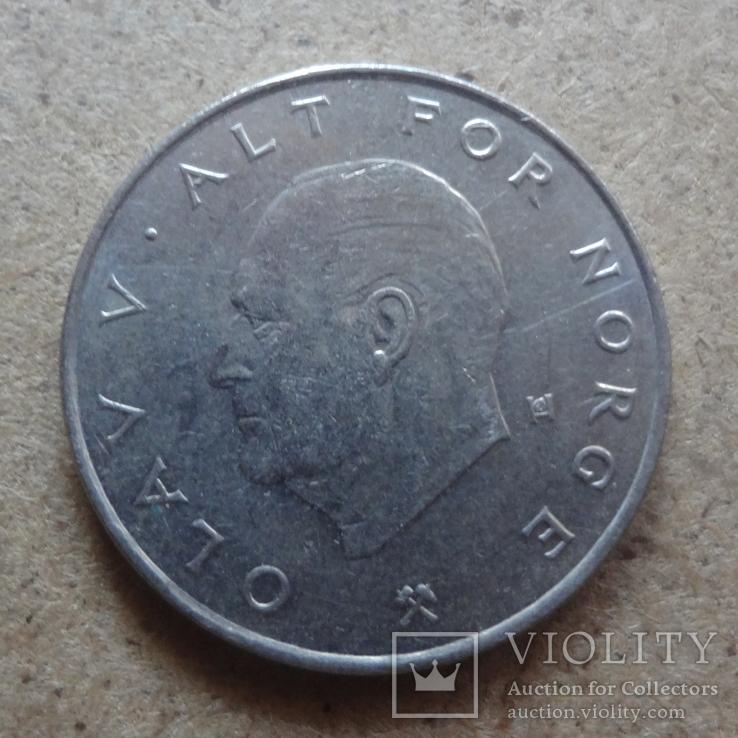 1 крона  1988  Норвегия  (К.33.3)~, фото №3