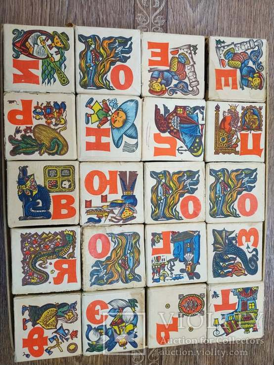 Кубики азбука с картинками художник Надеждина Л,Г, фото №2