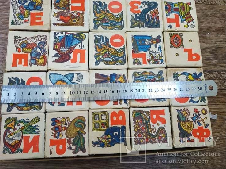 Кубики азбука с картинками художник Надеждина Л,Г, фото №5