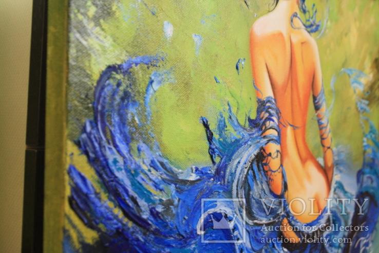 Синяя шаль 40/50 масло. Копия., фото №6