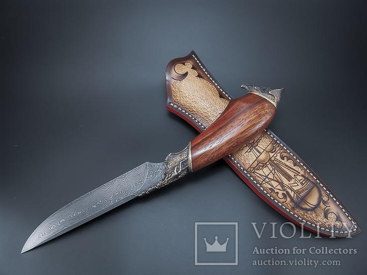 Нож, дамаск., фото №4