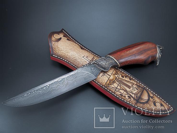 Нож, дамаск., фото №11
