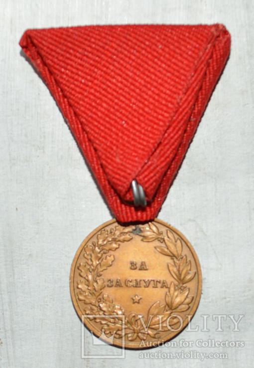 Медаль За заслуги Борис 3. Болгария, фото №3