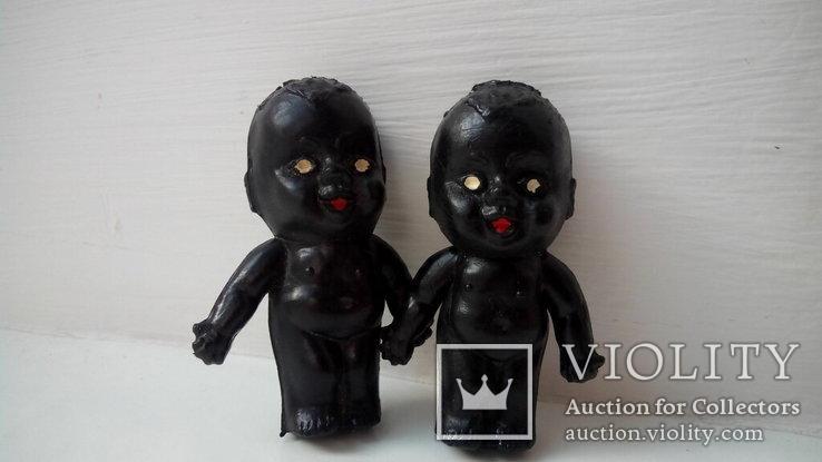 Кукла пупсики кьюпи негр 5см СССР