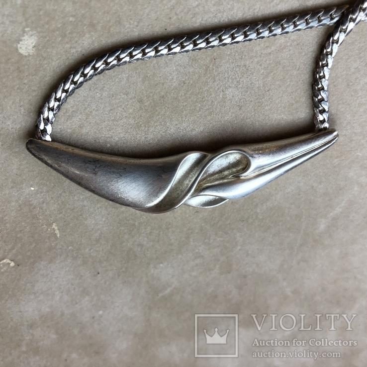 Серебряное колье, фото №5