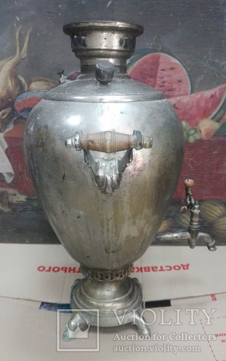 Самовар Яйцо 6,5 л Братья Шемарины никель, фото №5