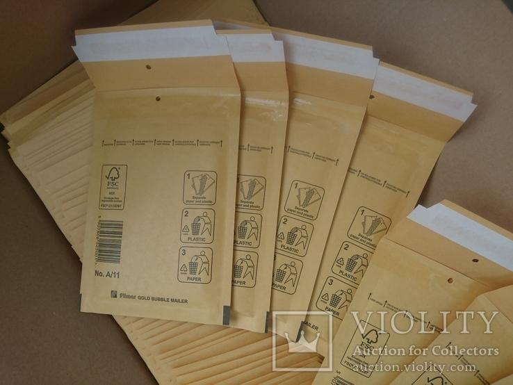 Бандерольный конверт А11 100х160, 50 шт, Польша, желтые, фото №3