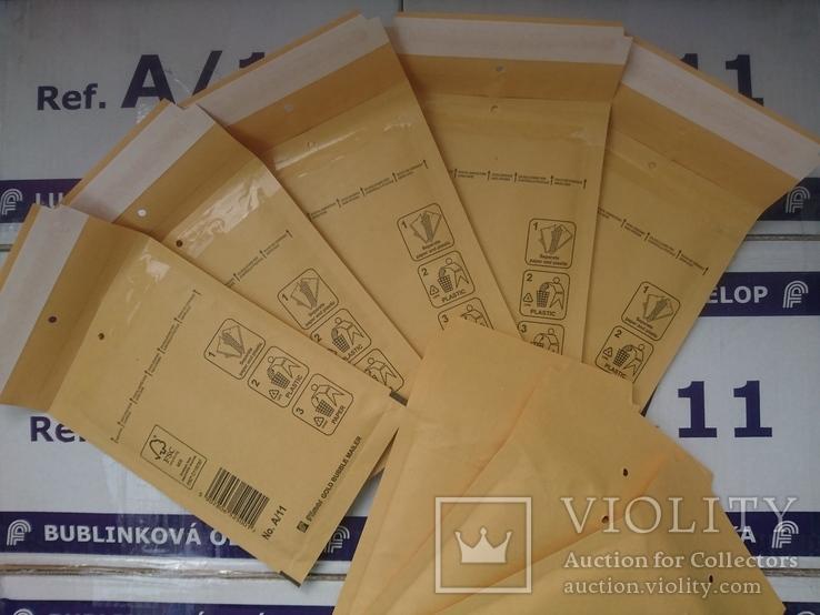 Бандерольный конверт А11 100х160, 50 шт, Польша, желтые, фото №6